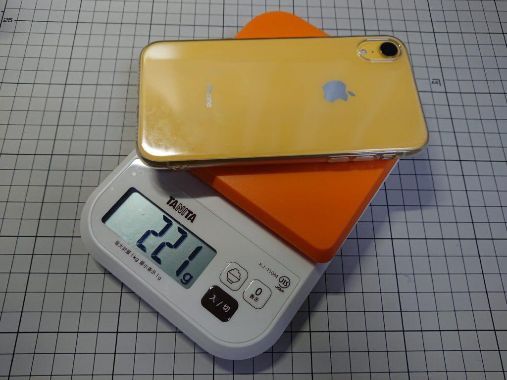 iPhoneXRケース付き重さ